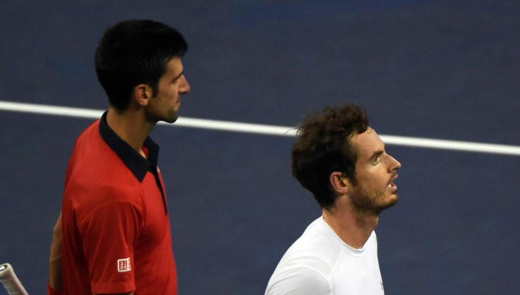 <strong>MØTES I FINALEN:</strong> Novak Djokovic skal ut i duell mot Andy Murray. Foto: Scanpix