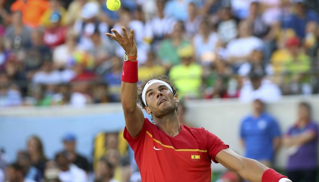 <strong>INGEN FINALE:</strong> Rafael Nadal tapte semifinalen mot Juan Martin Del Potro i OL. Foto: REUTERS/Kevin Lamarque&nbsp;