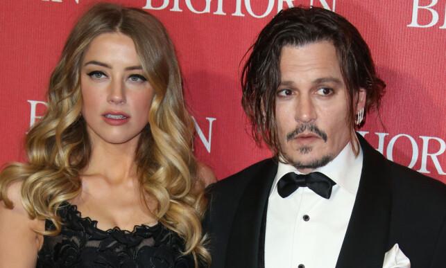 DRAMATISK BRUDD: Amber Heard og Johnny Depp. Foto: NTB Scanpix