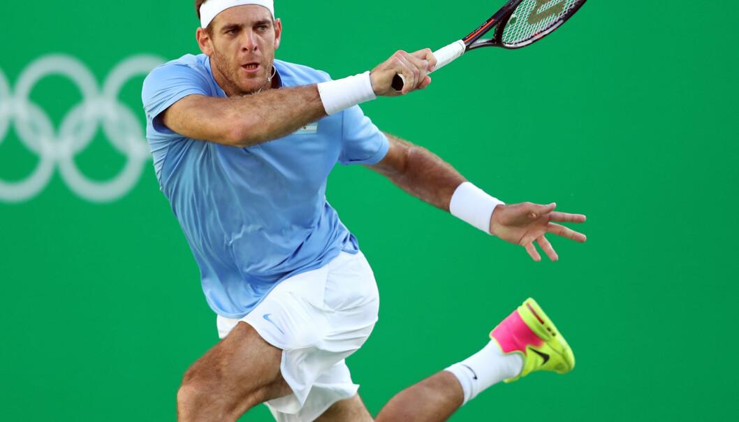 <strong>TIL FINALE:</strong> Juan Martin Del Potro vant en tett og jevn OL-semifinale mot Rafael Nadal. Foto: Cristiano Andujar/AGIF&nbsp;