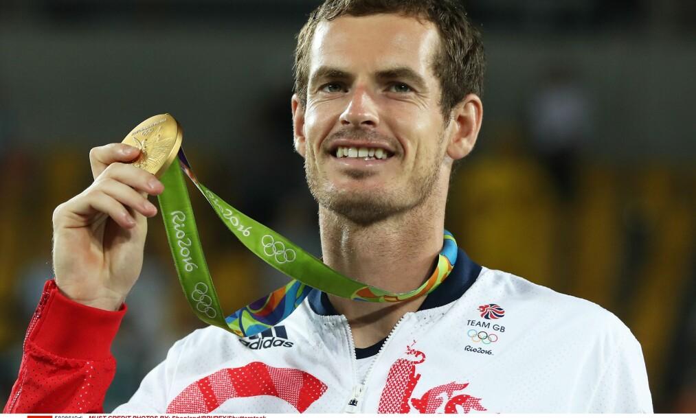 <strong>TIL TOPPS:</strong> Skotske Andy Murray sikret et nytt gull for Storbritannia etter at han vant mennenes tennisfinale i Rio-OL søndag kveld. Foto: Dave Shopland/BPI/REX/Shutterstock/NTB Scanpix