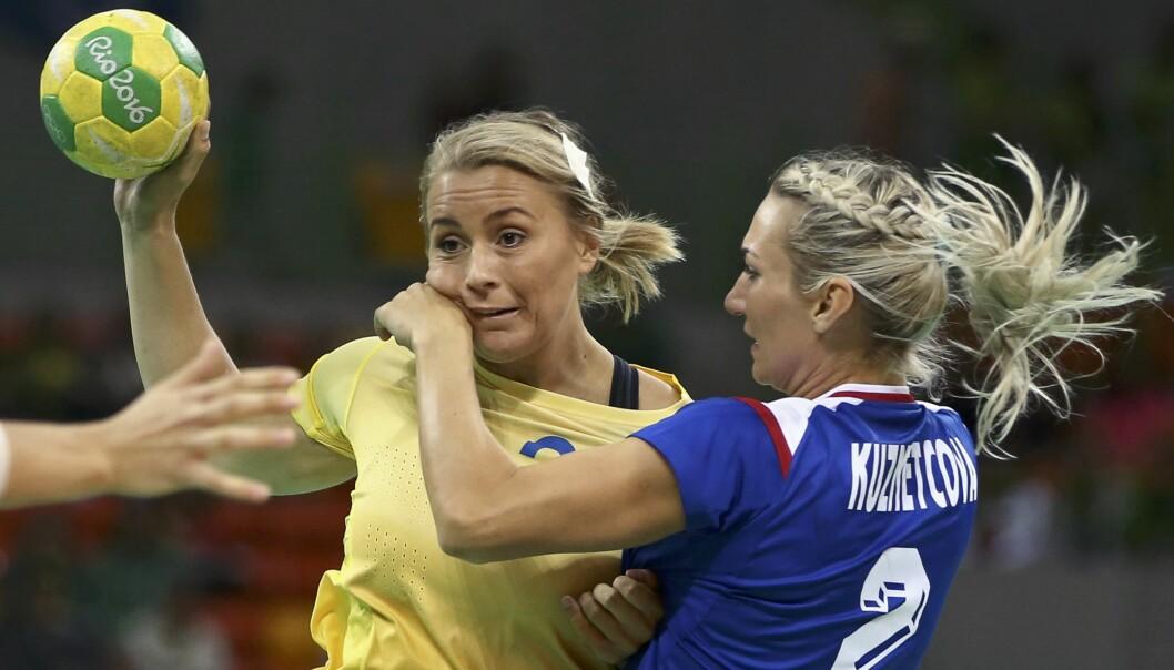FRITTALENDE: Isabelle Gulldén (t.v.) avbildet under en duell mot Russlands Polina Kuznetsova under sommer-OL i Rio. Foto: Marko Djurica / Reuters / NTB Scanpix