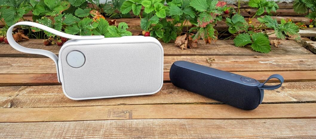 <strong><strong>DUETT:</strong></strong> Libratones nye Bluetooth-høyttalere; One Click og Too. Foto: PÅL JOAKIM OLSEN
