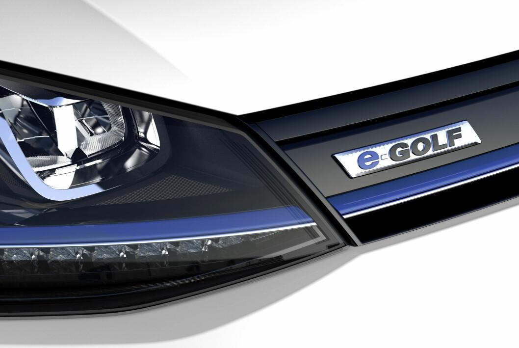 <strong><b>MEST SOLGTE:</strong></b> VW e-Golf ble landets mest solgte ladbare bil til og med juli i år, når elbilene og de ladbare utgavene legges sammen.  Foto: VW