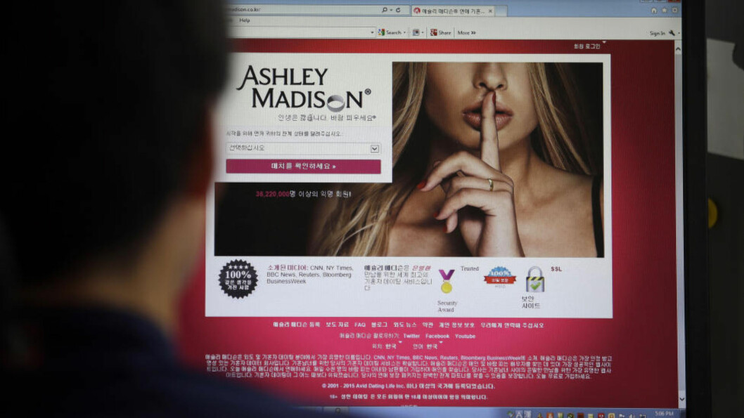 <strong>HACKET:</strong> Utroskapsnettstedet Ashley Madison går nå gjennom et databrudd. Foto: NTB Scanpix