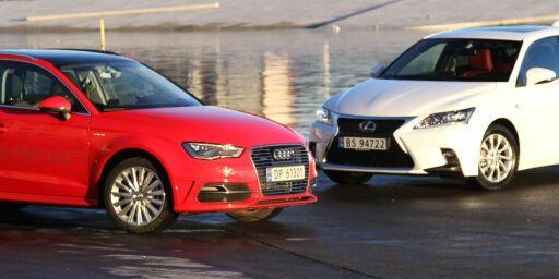 image: Audi A3 e-tron vs. Lexus CT200h