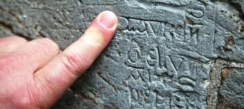 800 år gammel homse-graffiti på Nidarosdomen