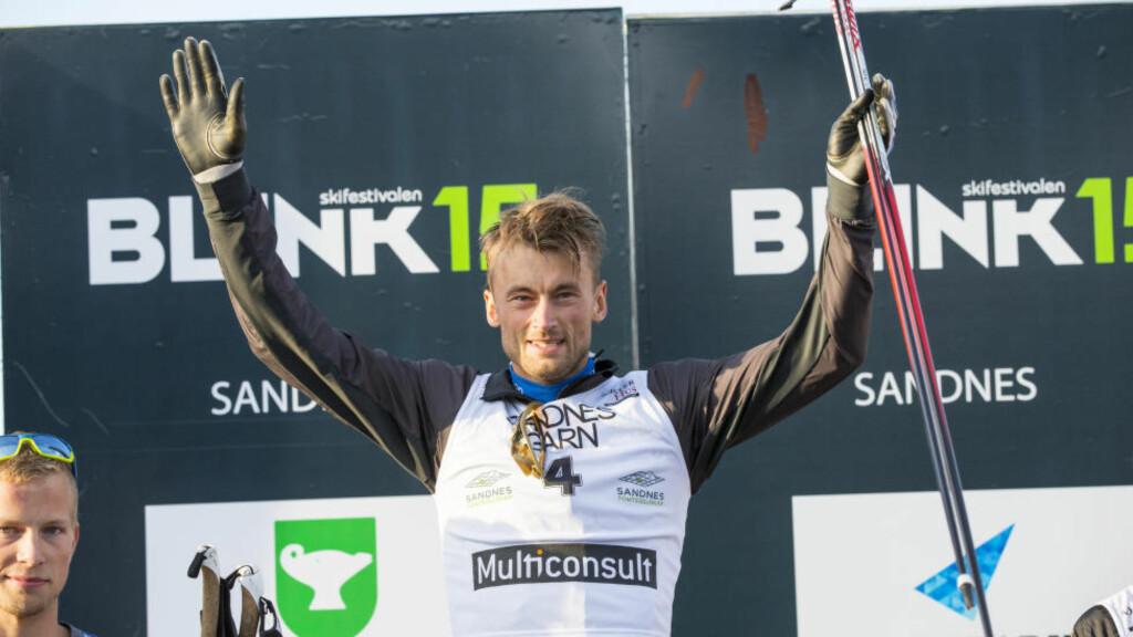 VANT:  Petter Northug gikk til topps under fredagens 15 kilometer i Sandnes. Foto: Henrik Torjussen / Blinkfestivalen.
