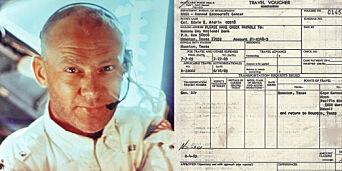 image: Buzz Aldrin leverte reiseregning etter verdens første ferd til månen