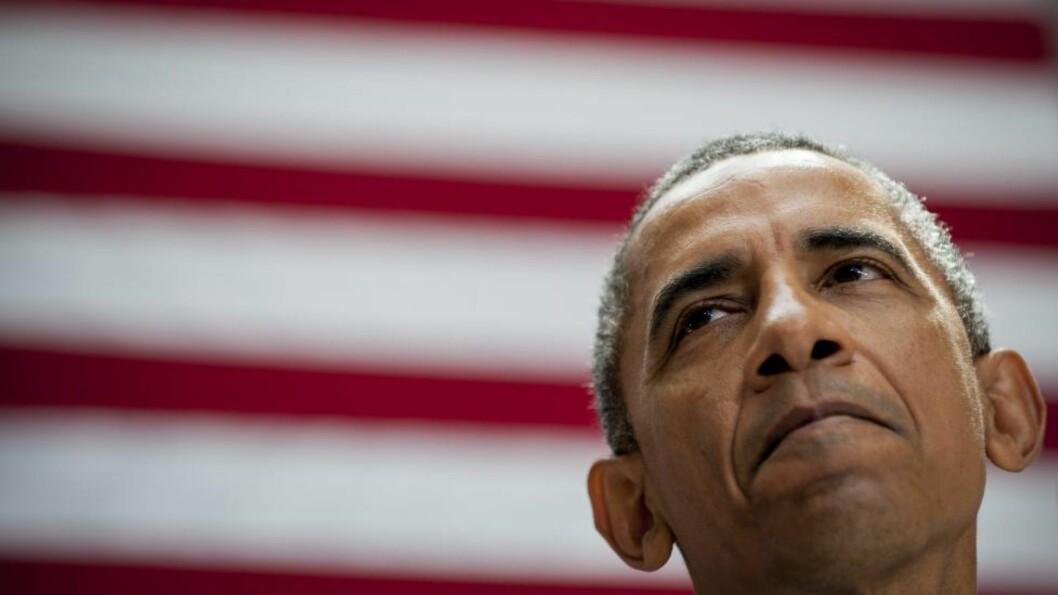 - KLAR TALE: Barack Obama kjemper for å få avtalen gjennom Kongressen, hvor det republikanske flertallet forsøker å hindre den. Klarer de det, kan det svekke USAs troverdighet, mener presidenten. I går holdt han en tale ved Det amerikanske universitetet i Washington. Foto:  EPA / PETE MAROVICH / Reuters