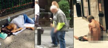 Politifolk i New York tar bilder av hjemløse og poster dem på nettet
