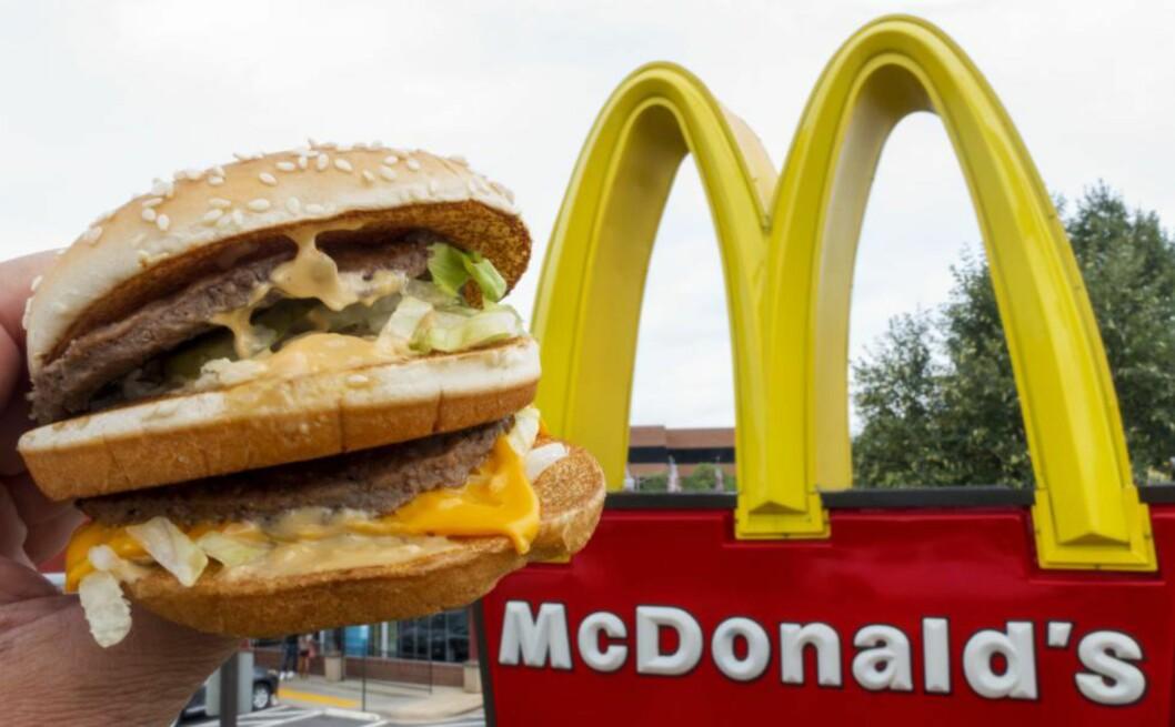 <strong>LEGGER NED 700 RESTAURANTER:</strong> Det er faktisk første gang på over 40 år at McDonald's er tvunget til å slanke seg. Foto: PAUL J. RICHARDS / AFP PHOTO / NTB SCANPIX