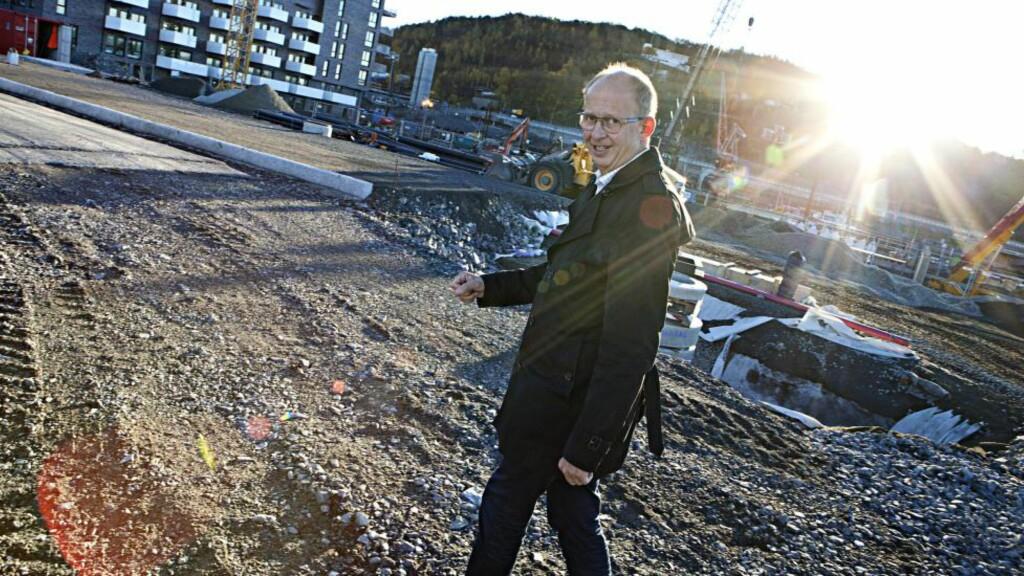 Satser på Øst : Boliginvestor Espen Pay vil bygge ut på Hasle, Carl Berner og i «raddiskvartalet» Hauskvartalet. Foto: Finansavisen