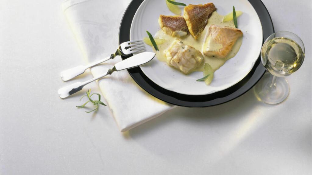 INNERTIER TIL FISK: Aromaene i viner fra Meursault gjør at de passer perfekt til fisk med smørbaserte sauser. Foto: NTB Scanpix