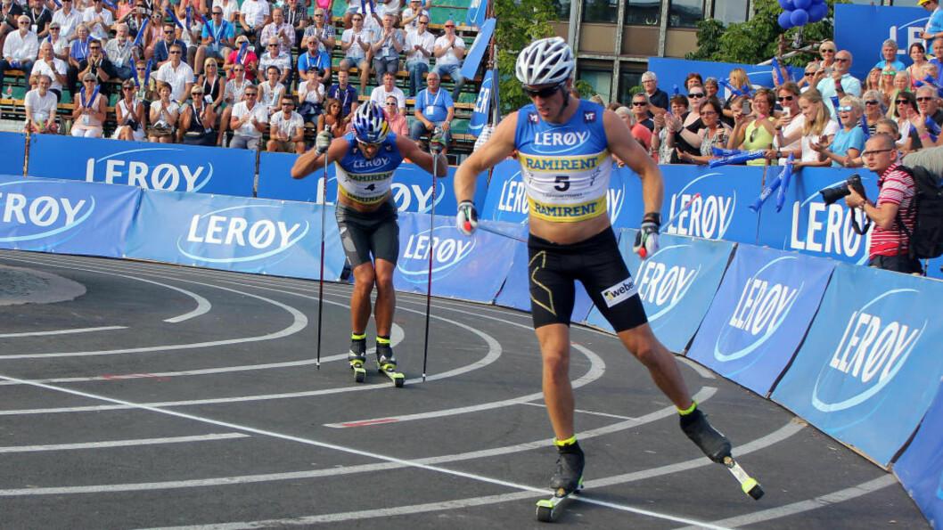 <strong>GIKK SAMMEN:</strong> Rivalene Petter Northug og Calle Halfvarsson gikk lenge sammen, men klarte ikke å samarbeide. Foto: Øyvind Godø / Dagbladet
