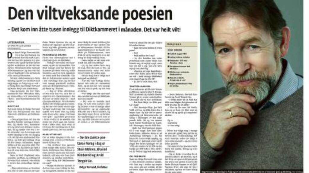 — DET VAR HEILT VILT! Helge Torvund til Dag og Tid i jubileumsåret 2011. Faksimile: Dag og Tid