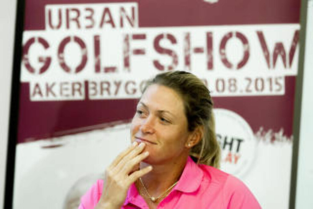 "HJEMMESHOW:  Lørdag står Suzann ""Tutta"" Pettersen i spissen for Suzann Pro Challenge Urban Golfshow  på Aker Brygge i Oslo lørdag. Foto: Vegard Wivestad Grøtt, NTB Scanpix."