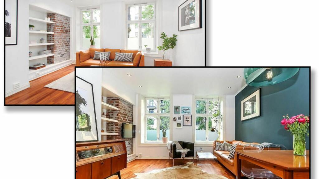 ENKEL OPPUSSING SOM GIR UTTELLING: Ved hjelp av enkel maling og lettere ommøblering gikk denne boligen fra ingen interesse til salg godt over takst. Foto: iHUS