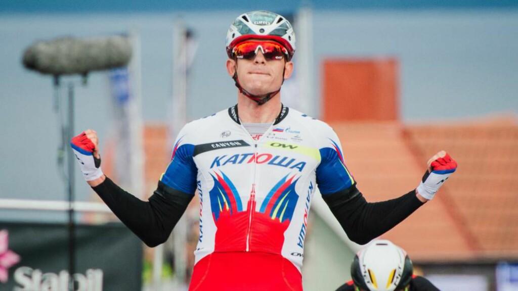 VANT: Alexander Kristoff vant GP Ouest France. Her fra årets Arctic Race. Foto: JONATHAN NACKSTRAND (Scanpix/Afp)