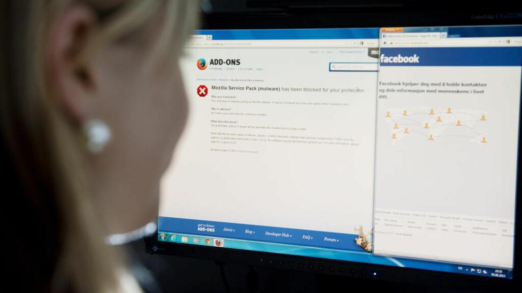OBS, OBS! Vær forsiktig med det du legger igjen av spor på Facebook - din eventuelle framtidige arbeidsgiver følger sannsynligvis også med på nettet.  Foto: Benjamin A. Ward