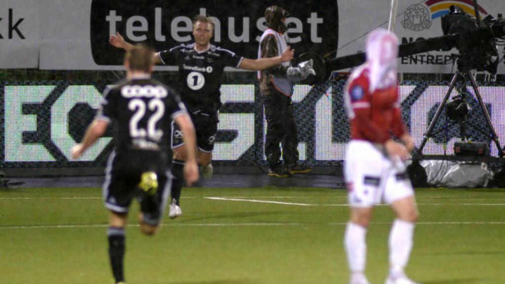 FEIRET: Alexander Søderlund etter 1-1-målet.  Foto: Rune Stoltz Bertinussen / NTB scanpix