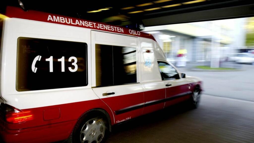 113  Det gamle nummeret gjelder fortsatt for akutthjelp og ambulanse over hele landet. Illustrasjonsfoto: Mimsy Møller, Samfoto.