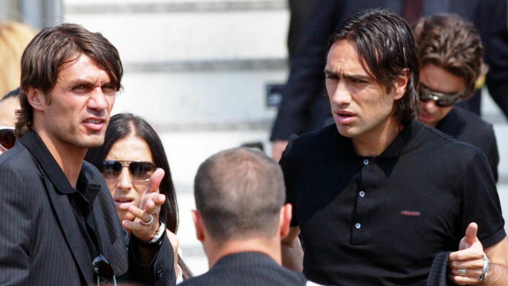 SAMMEN I USA:  Paolo Maldini og Alessandro Nesta prøver seg i amerikansk andredivisjon.Foto: AP /Antonio Calanni/ NTB Scanpix