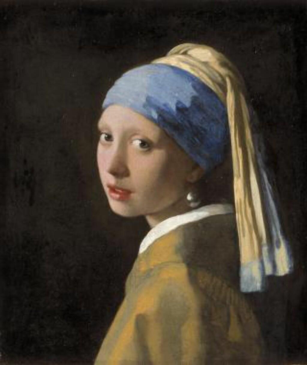 BERØMT PIKE: Johannes Vermeers maleri  «Pike med perleøredobb» malt i cirka 1665, ble både bok og film. Maleriet tilhører Mauritshuis-samlingen. Foto: MAURITSHUIS