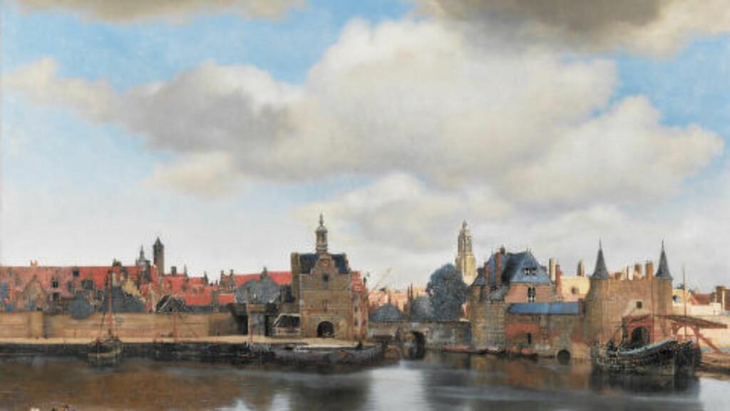 BLE ROMAN: Marcel Proust ble inspiret av Johannes Vermeers maleri Utsikt fra Delft, malt i cirka 1660. Foto: MAURITSHUIS