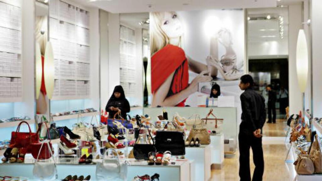 DAGLIGLIV: Dette bildet er fra et shoppingsenter i hovedstaden Muskat. Foto: Nina Hansen