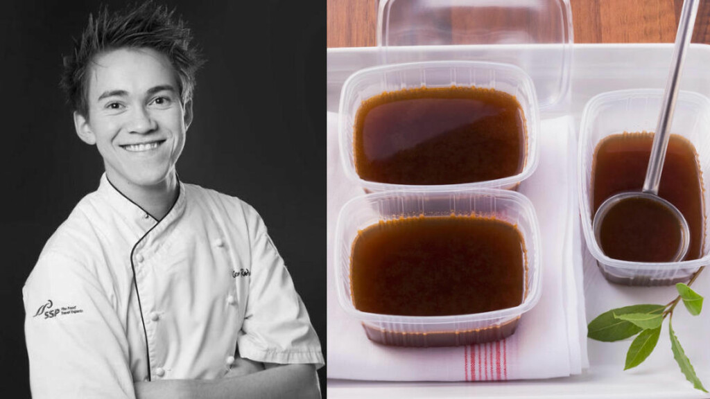 SAUSMESTER: Christer Rødseths basesaus kan brukes både til fugl, fisk og kjøtt. Lag gjerne en stor porsjon og frys ned i mindre porsjonspakker. Foto: CHRISTIAN WESENBERG/WSTUDIO / BON APPETIT