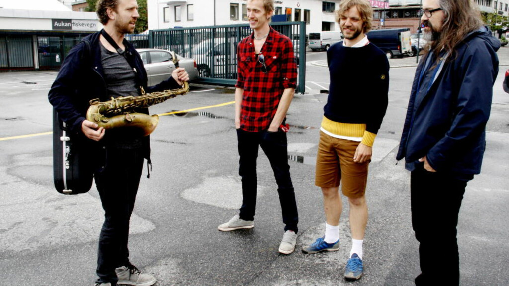 NYTT ALBUM: Gruppa Møster! på Moldejazz: Kjetil Traavik Møster (f.v.), Kenneth Kapstad, Nikolai Hængsle Eilertsen og Hans Magnus Ryan. Foto: Øyvind Rønning / Dagbladet