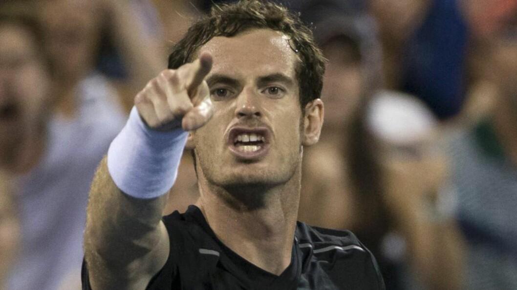 <strong> IRRITERT:</strong>  Andy Murray. Foto: NTB Scanpix