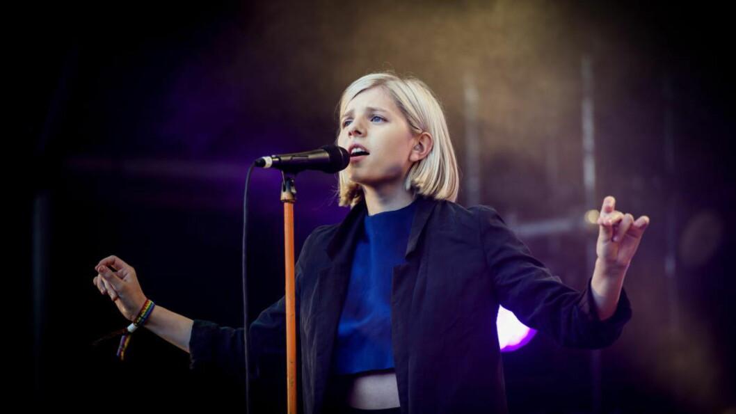 <strong>KONSERT:</strong> Aurora Aksnes på Hovefestivalen 2014. Foto: John T. Pedersen / Dagbladet