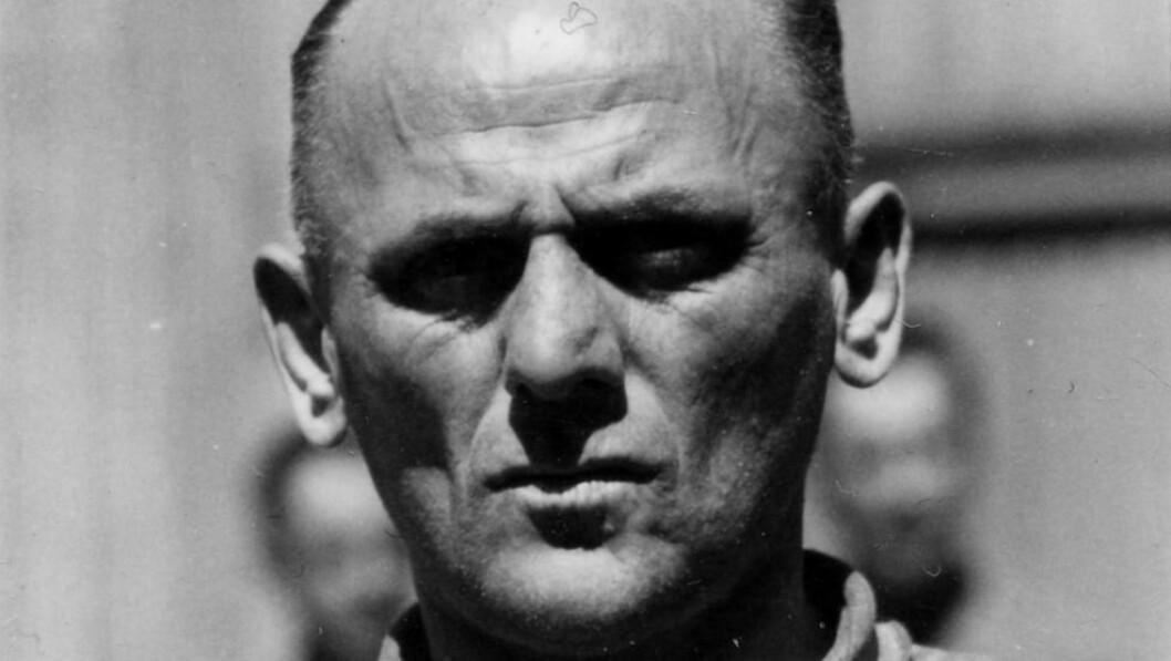 <strong>DØMT TIL DØDEN:</strong> Hans Aumeier ble utlevert til Polen etter krigen. I 1947 ble han dømt til døden sammen 22 andre Auschwitz-bødler. Han viste fortsatt ingen anger og nektet all skyld. Da dommen ble forkynt sa han: «Jeg dør som syndebukk for Tyskland». Foto: Norges Hjemmefrontmuseum