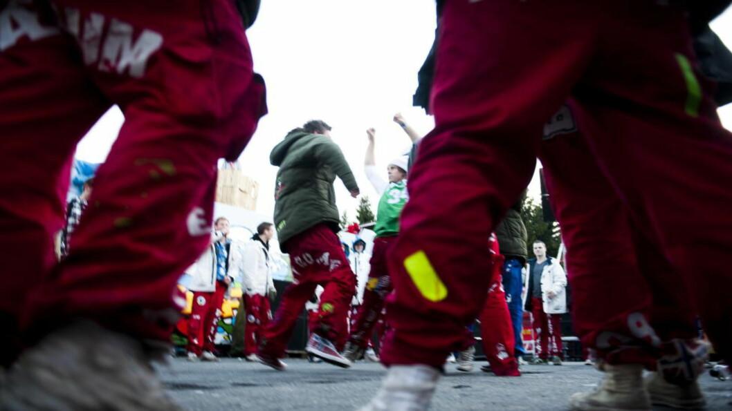 <strong>FEST OG FYLL:</strong> Russetiden er for de fleste synonymt med fest og fyll. Dette bildet er fra Tryvann i 2009. Foto: Håkon Eikesdal / Dagbladet