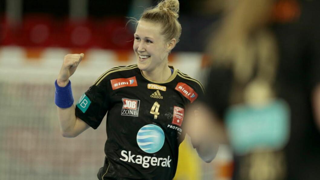<strong>SMILET PÅ PLASS IGJEN:</strong> Marit Malm Frafjord har kjempet seg gjennom et par tunge år med skader. I dag kan hun vinne Champions League med Larvik. Da er den vonde tiden fort glemt.