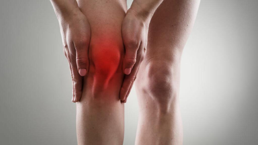 KNESMERTER? Det er vanlig med problemer rundt kneskålen og slitasje av menisk og brusk ved kondisjonstrening. Foto: NTB Scanpix / Microstock