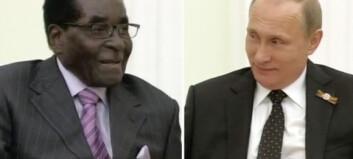 Når Mugabe spøker om Vestens sanksjoner, klarer verken han eller Putin å holde latteren tilbake