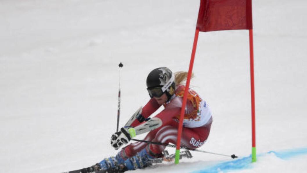 <strong>I OL:</strong> Lara Gut under Sotsji-OL. Foto: AP Photo/Charles Krupa