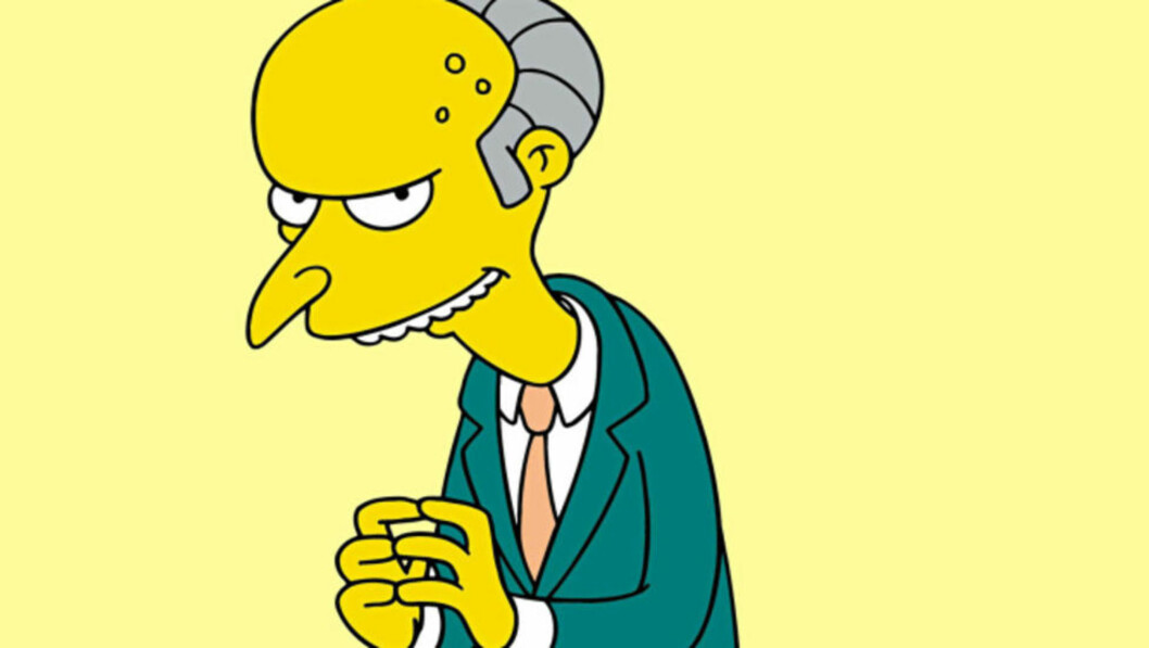 <strong>FORSVINNER:</strong> Stemmen bak Mr. Burns, Harry Shearer, gir seg i «The Simpsons». Foto: Fox