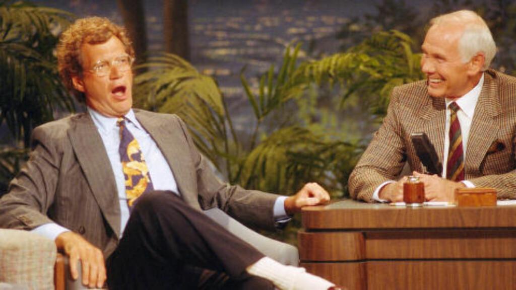 MENTOR: Letterman lærte faget av Johnny Carson. I dag er han den eneste som har ledet talkshow på tv lenger enn Carson. Foto: Scanpix