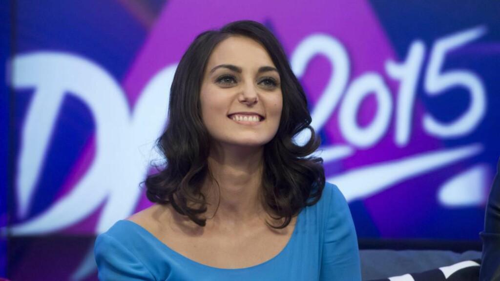 Synger om fred: Ungarske Boggie stiller i Eurovision 2015 med sangen Wars For Nothing. Dagbladets oddstipper tror den har en god sjanse til å nå finalen. FOTO: EPA/Szilard Koszticsak HUNGARY OUT