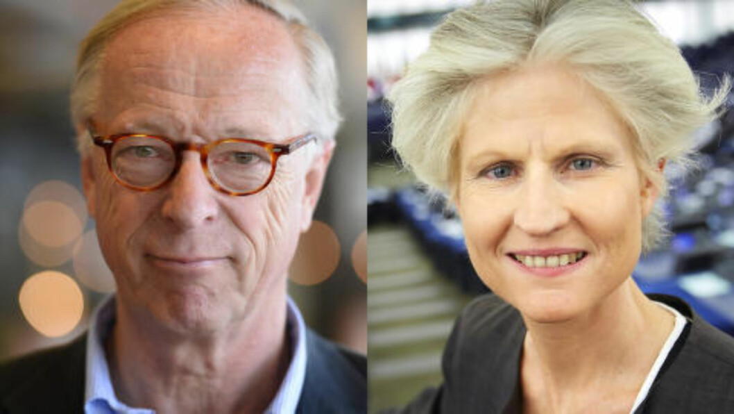 <strong>NEKTES RUSSLAND-BESØK:</strong> STOCKHOLM 2014-05-22 EU-parlamentarikerne Gunnar Hökmark (M) og Anna Maria Corazza Bildt (M).  Foto: Per Larsson/Fredrik Persson / TT