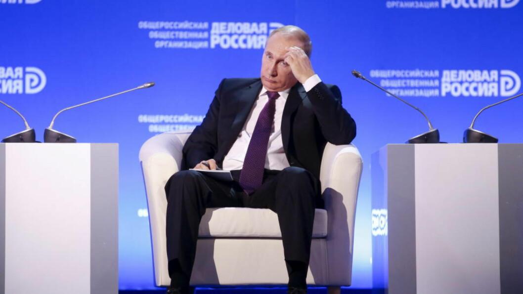 <strong>NEKTER KRITIKERE INNREISE:</strong> Russland og president Vladimir Putin har ifølge flere europiske politikere levert en liste på 89 navn som nektes innreise til landet. Foto: REUTERS/Maxim Zmeyev