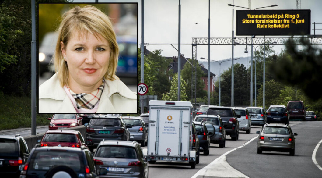 <strong>«KØHELVETE»:</strong> Det er ventet voldsom belastning på Ring 3, en av Oslos hovedfartsårer. NAF reagerer sterkt, og mener det ikke er lagt til rette for Oslo-bilistene. Foto: Lars Eivind Bones / Dagbladet, NTB scanpix