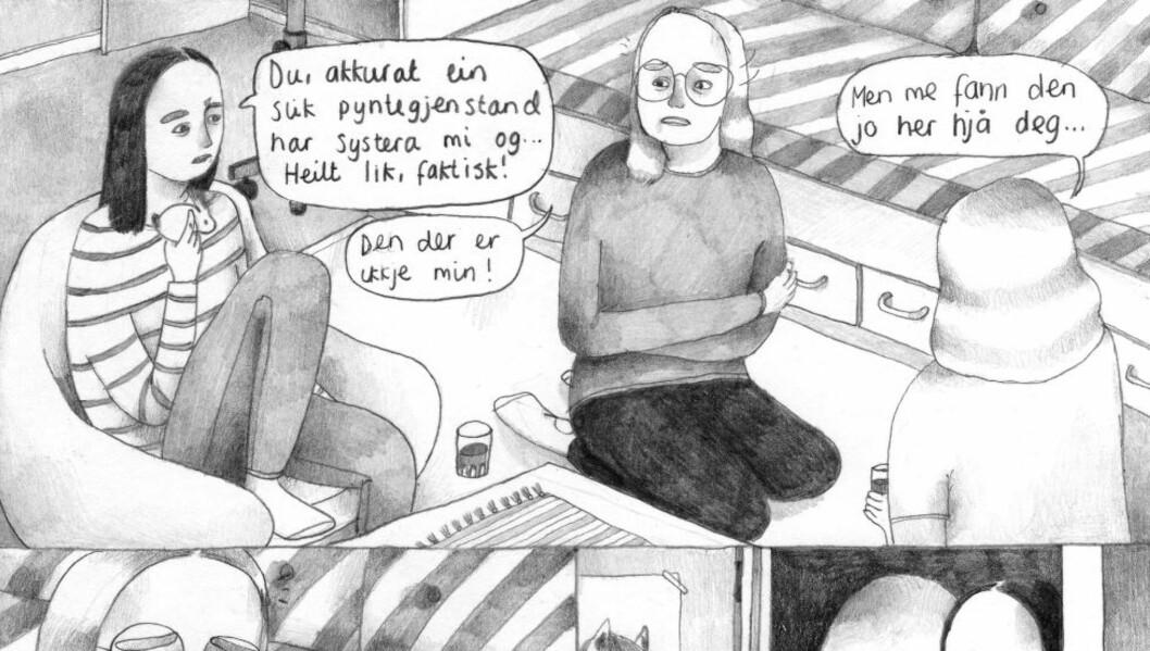 <strong>VENNEKAMP:</strong> «Hundedagar» er en tegneserie som skildrer oppvekst, rivalisering og kampen for å passe inn på en unikt ærlig og presis måte, mener anmelderen. Illustrasjon fra boka