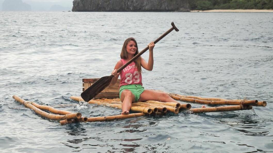 <strong>NAKENDATING:</strong> Sandra Hauge er en av deltakerne i TVNorges nye konsept «Adam og Eva». Foto: TVNorge