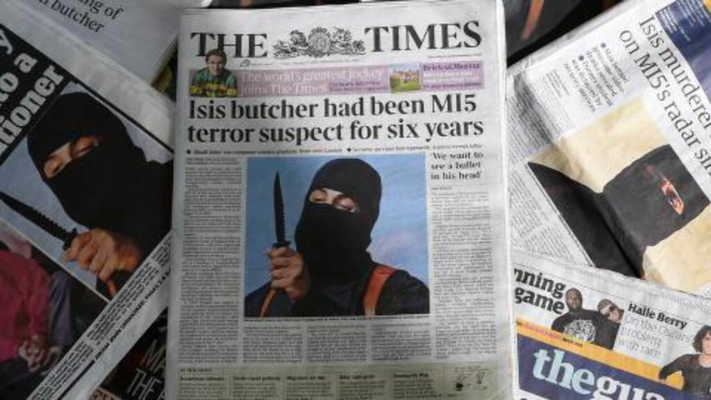 GLAPP UNNA: «Jihadi John». Foto: AFP / DANIEL SORABJI / NTB scanpix