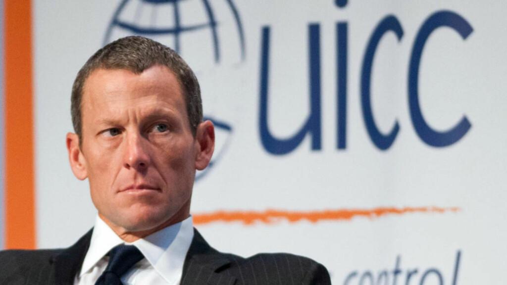FRYKTER FOR ØKONOMIEN: Lance Armstrong er redd det kan bli økonomisk trangt om han må punge ut med 800 millioner kroner. Foto: Graham Hughes / The Canadian Press via AP / NTB Scanpix
